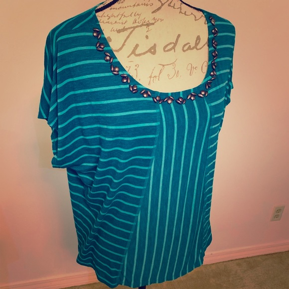 Ruby Rd. Tops - Ruby Rd Striped Top Large